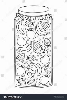 Malvorlagen Jam Vector Doodle Coloring Book Page Jar Of Fruit Jam Anti