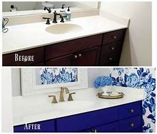 diy painted bathroom countertop and sink 2 bees in a pod
