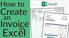 how to create an invoice in excel free invoice template download youtube