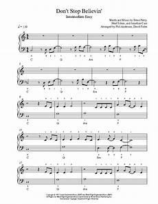don t stop believin by journey piano sheet music intermediate level sheet music piano