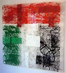 acrylic sheet art acrylic drip art painting pollock styled in uae flag