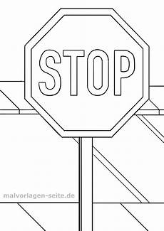 traffic sign stop sign coloring page