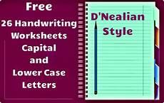 free handwriting worksheets handwriting worksheets d nealian style readyteacher com