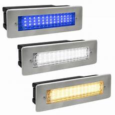 ip65 recessed led outdoor bricklight wall light in white or blue energy saving ebay