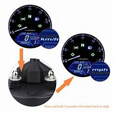 large lcd digital backlight motorcycle odometer speedometer tachometer mph ebay