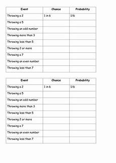probability scale worksheet with answers 5988 probability scale teaching resources