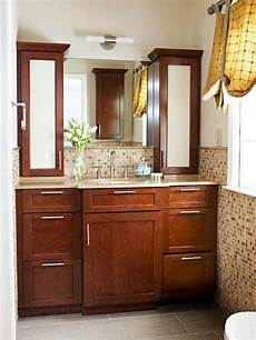 Bathroom Ideas Brown Cabinets by 26 Brown And White Bathroom Tiles Ideas And Pictures