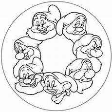 Zwerge Malvorlagen Ausdrucken Ebay Disney 7 Mandala Malvorlagen