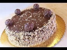 torta con ferrero rocher sbriciolati torta ferrero rocher ricetta di fidelity cucina youtube