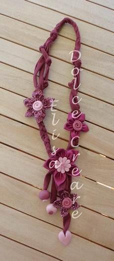 collane con fiori di stoffa 68 best collane in fettuccia fiori di stoffa e pasta di
