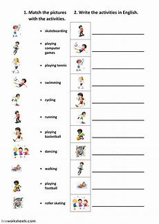 free activity worksheets 20305 free time activities interactive worksheet