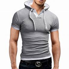 2018 s slim fit sleeve shirts hooded