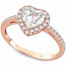 rose gold plated sterling silver heart wedding engagement