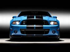 2013 Blue Shelby GT Front Studio Wallpapers