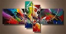 tableaux design abstrait en 4 toiles moderne