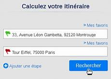 calculer itinéraire voiture comment trouver l itin 233 raire d une ville 224 une autre via