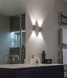 polished chrome led bathroom wall light
