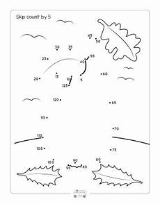 fall dot to dot skip counting worksheets by 2s 5s and by 10s itsybitsyfun com