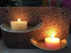 Beton Kerzenhalter Selbstgemacht Teller Design Upcycling