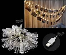 40 led photo clip string light wedding party wall hanging decor warm white ebay