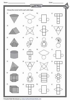 geometry nets worksheets 823 solid net and shapes math worksheets shapes worksheets 3d shapes worksheets