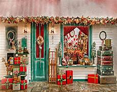 2019 merry christmas backdrops for decorated house gift boxes vintage suitcases