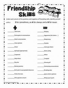 friendship skills printable worksheets