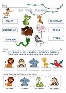jungle animal worksheets 14319 in the jungle worksheet free esl printable worksheets made by teachers