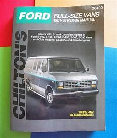 car manuals free online 2004 ford e150 engine control repair manual 1961 1988 ford full size vans paperback 1998 chilton automotive repairmanual