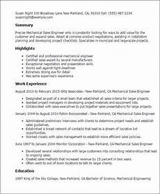 resume sle for mechanical enginer professional mechanical sales engineer templates to