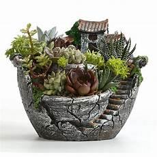2020 Resin Garden Cactus Succulent Plant Pot Herb Flower