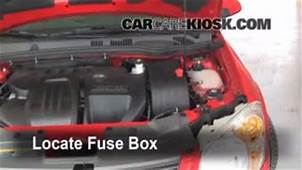 Interior Fuse Box Location 2005 2010 Chevrolet Cobalt