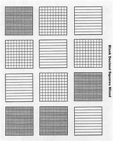 free blank decimal grids for tenths hundreths thousandths on this site decimals math