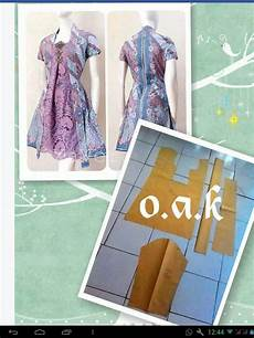 Baby Doll Brokat Dress Kebaya Kutu Baru Pattern Batik