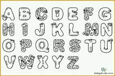 modisch buchstaben ausmalen alphabet malvorlagen a z