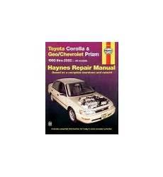 hayes car manuals 2002 chevrolet prizm head up display car repair service maintenance manual book