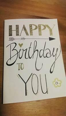 handmade handlettering birthday card handlettering