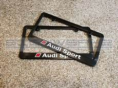 audi sport audi license plate frame rs3 ttrs r8 a4 s4 tt s5 q5 2 colors pair ebay