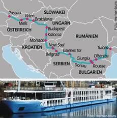 Flusskreuzfahrt Donau 2018 - donaukreuzfahrt bis zum delta ab passau 2018