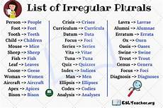 irregular plural nouns the helpful list of 35 irregular