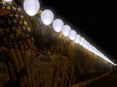 border of lights art installation for the 25 anniversary of the berlin wall