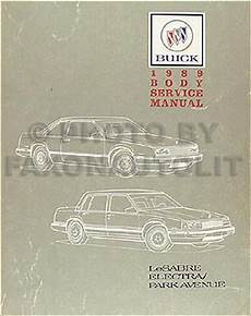 car repair manuals online pdf 1989 buick electra engine control 1989 buick lesabre electra park avenue body repair shop manual original