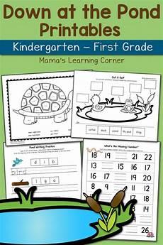 pond worksheets for kindergarten and first grade updated