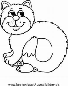 kostenlose ausmalbilder ausmalbild katze und maus