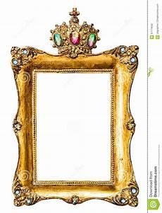 goldener bilderrahmen goldener bilderrahmen verziert mit edelsteinen stockfoto