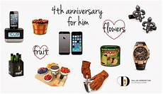 4th Wedding Anniversary Gifts For Him