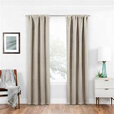 Black Out Drapes by Eclipse Blackout Isanti 63 In L Ecru Rod Pocket Curtain