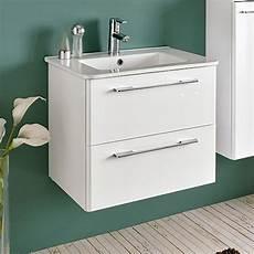 meuble salle de bain 60 cm 2 tiroirs klea