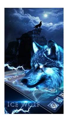 3d blue fire ice wolf launcher theme for android apk download