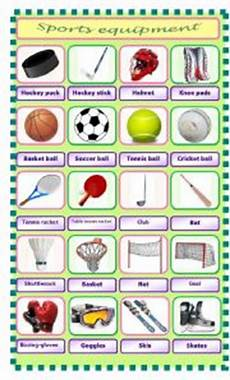 sports equipment worksheets 15781 sports equipment pictionary esl worksheet by pet24